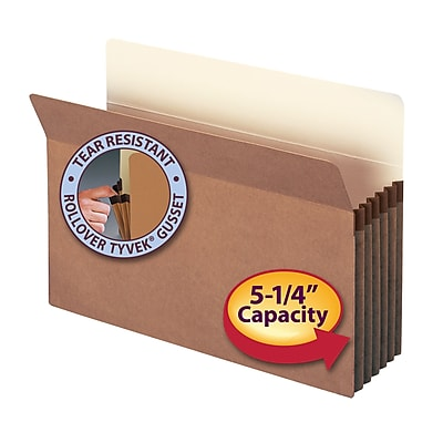 Smead Straight Cut File Pockets, 5-1/4