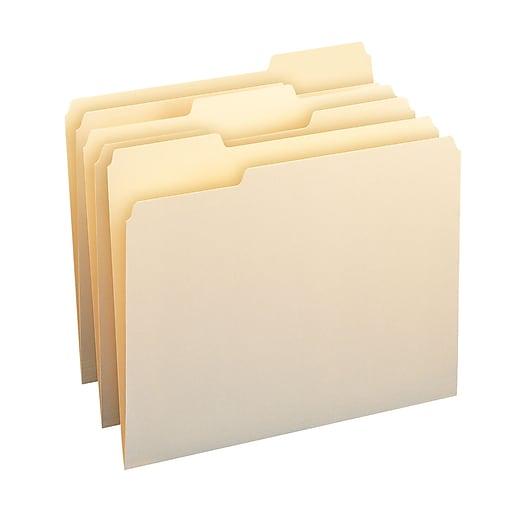Smeadr manila file folder 1 3 cut tab letter size manila for Manila file folders letter 3 tab
