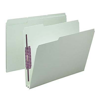 Smead Pressboard File Folder with SafeSHIELD Fasteners, 1/3-Cut Tab, 2