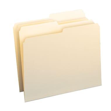 Smead® Folder, 1/2-Cut Tab, Letter Size, Manila, 100/Box (10320)
