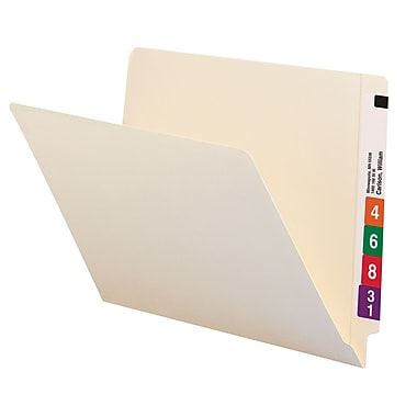 Smead® End Tab File Folder, Shelf-Master® Reinforced Straight-Cut Tab, Letter Size, Manila, 100/Box (24110)