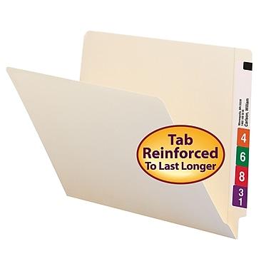 Smead® End Tab File Folder, Shelf-Master® Reinforced Straight-Cut Tab, Letter Size, Manila, 100/Box (24109)