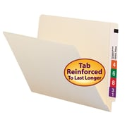 Smead® End Tab File Folder, Shelf-Master® Reinforced Straight-Cut Tab, Letter Size, Manila, 100/Box (24109)