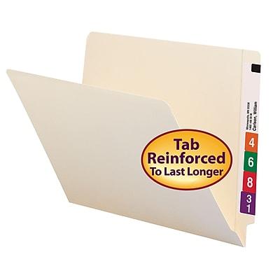 Smead Shelf-Master Reinforced End-Tab File Folders, Letter, Manila, 100/Bx (24109)