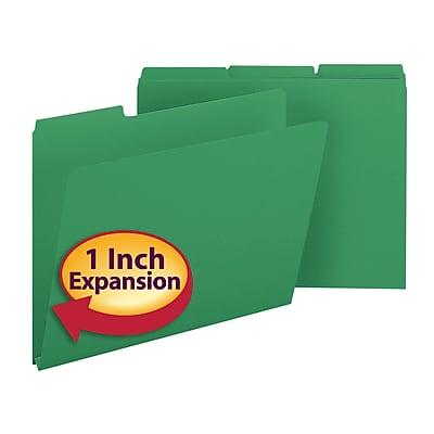 Smead Pressboard 3-Tab Colored File Folders, 1