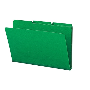 Smead® Pressboard File Folder, 1/3-Cut Tab, 1