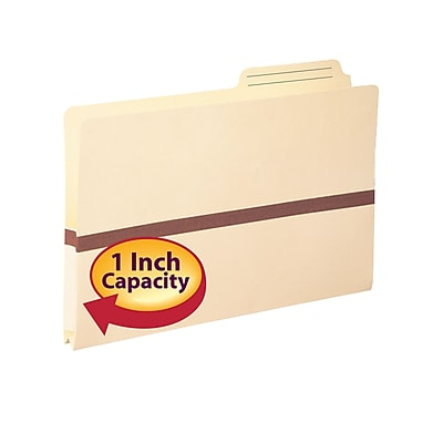 Smead Reinforced 2/5-Cut Printed Tab File Pockets, Legal, Manila, 50/Bx (75487)