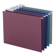 Smead® Hanging File Folder with Tab, 1/5-Cut Adjustable Tab, Letter Size, Assorted Colors, 25/Box (64056)