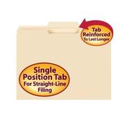 Smead® File Folder, Reinforced 1/3-Cut Tab Center Position, Letter Size, Manila, 100/Box (10336)