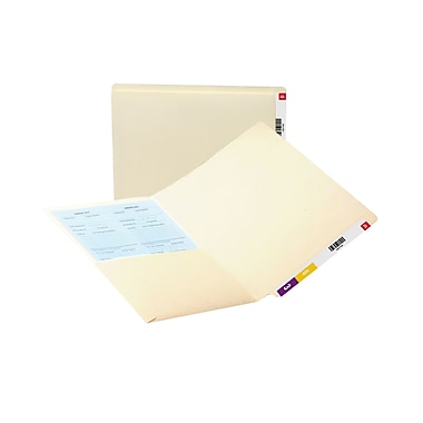 Smead® End Tab Pocket Folder with Antimicrobial Protection, Reinforced Straight-Cut Tab, Letter, Manila, 50/Box (24116)