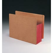 Smead® Redrope Drop-Front End Tab File Pockets with Colored Tyvek® Gussets, Red, Letter, 10/Box (73696)