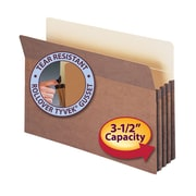"""Smead® File Pocket, Straight-Cut Tab, 3-1/2"""" Expansion, Legal Size, Redrope, 25/Box (74224)"""