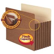 "Smead® TUFF® Pocket File Pocket, Straight-Cut Tab, 7"" Expansion, Letter Size, Redrope, 5/Box (73395)"