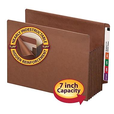 Smead® End Tab TUFF® File Pocket, Reinforced Straight Tab, 7