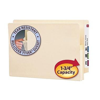 Smead® End Tab File Pocket, Reinforced Straight-Cut Tab, 1-3/4