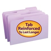Smead® File Folder, Reinforced 1/3-Cut Tab, Legal Size, Lavender, 100/Box (17434)