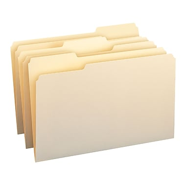 Smead® File Folders, 1/3-Cut Tab, Legal Size, Manila, 100/Box (15330)