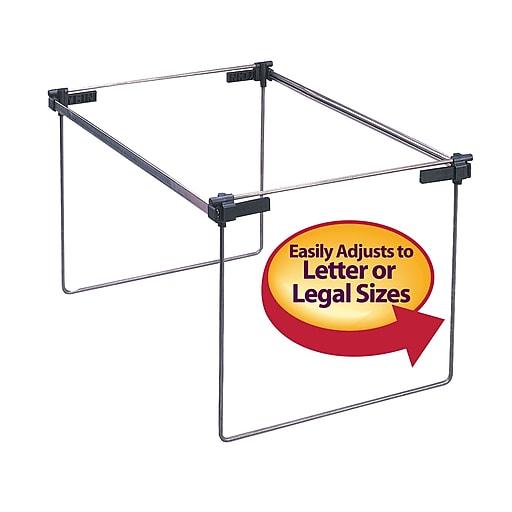 Smead® Hanging File Folder Gram, Adjustable Letter/Legal/A4, Gray, 2 ...