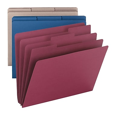 Smead® Organizer File Folder, 1/3-Cut Tab, Letter Size, Assorted Colors, 3/Pack (85785)