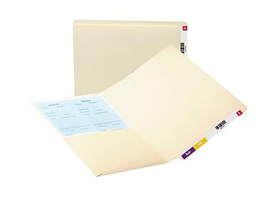 Smead End Tab Pocket Folder, Shelf-Master Reinforced Straight-Cut Tab, 2 Pocket, Letter Size, Manila, 25/Box (24117)