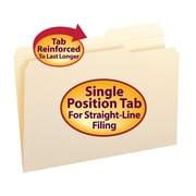 Smead® File Folder, Reinforced 2/5-Cut Tab Right Position, Legal Size, Manila, 100/Box (15386)