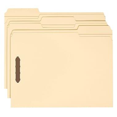 Smead® Fastener File Folder 2 Fasteners Reinforced 1/3-Cut Tab Letter Size 50/Box (14537)