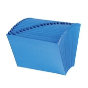 Smead® Expanding File with Antimicrobial Product Protection, Alphabetic (A-Z), 21 Pockets, Letter Size, Blue (70727)