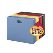 "Smead Colored Hanging File Pockets with Full-Height Gusset, Letter, 3-1/2"" Expansion, Assorted, 4/Pk (64291)"