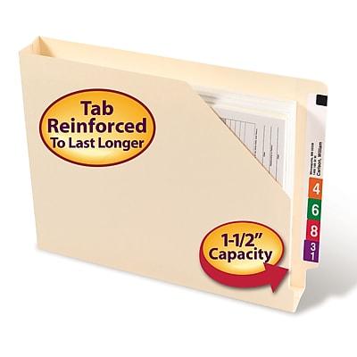 Smead Shelf-Master Reinforced File Jackets, 1-1/2