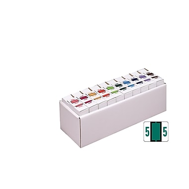Smead® BCCRN Bar-Style Color-Coded Numeric Label, 0-9, Label Roll, Assorted Colors (67380)