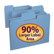 Smead® SuperTab® File Folder, Oversized 1/3-Cut Tab, Letter Size, Blue, 100/Box (11986)