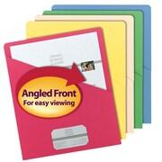 Smead® Slash Jacket, Letter Size, Assorted Colors, 25/Pack (75425)
