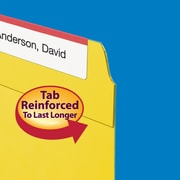 Smead® Fastener File Folder, 2 Fasteners, Reinforced 1/3-Cut Tab, Letter Size, Yellow, 50/Box (12940)