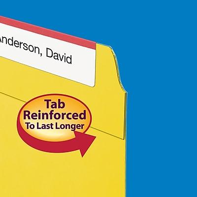 Smead Fastener File Folder, 2 Fasteners, Reinforced 1/3-Cut Tab, Letter Size, Yellow, 50/Box (12940)