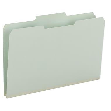Smead® Pressboard File Folder, 1/3-Cut Tab, 1in. Expansion, Legal Size, Gray/Green, 25/Box (18230)
