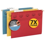 Smead TUFF Hanging File Folder with Easy Slide Tab, 1/3-Cut Sliding Tab, Letter Size, Assorted Colors, 15/Box (64040)