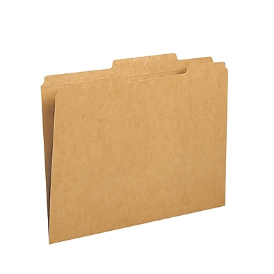 Smead® File Folders, Reinforced 2/5-Cut Tab Right Of Center, Guide Height, Letter Size, Kraft, 100/Box (10776)