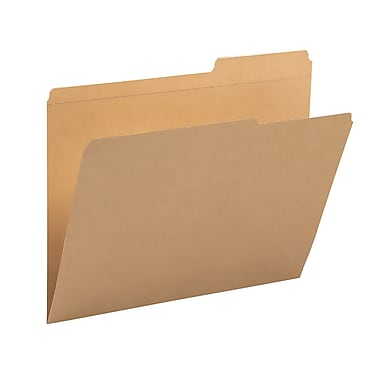 Smead® File Folder, Reinforced 2/5-Cut Tab Right Position, Guide Height, Letter Size, Kraft, 100/Box (10786)