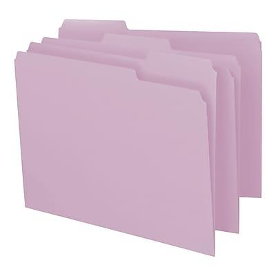 Smead File Folder, 1/3-Cut Tab, Letter Size, Lavender, 100/Box (12443)