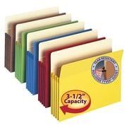 Smead® Colored File Pockets, Assorted, Letter, 25/Box (73890)