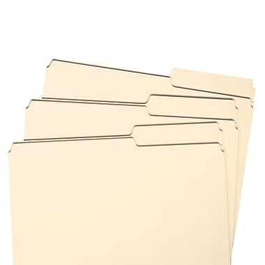Smead® File Folder, 2/5-Cut Tab Right Position, Letter Size, Manila, 100/Box (10385)