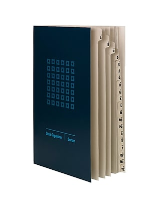Smead Project Organizer, 10 Pocket Dividers, Legal Size, Navy/Lake Blue (89237)
