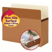 """Smead Easy Grip File Pocket, Straight-Cut Tab, 5-1/4"""" Expansion, Letter Size, Redrope, 10/Box (73209)"""