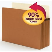 "Smead® SuperTab® File Pocket, Oversized Straight-Cut Tab, 5-1/4"" Expansion, Letter Size, Redrope, 10/Box (73240)"