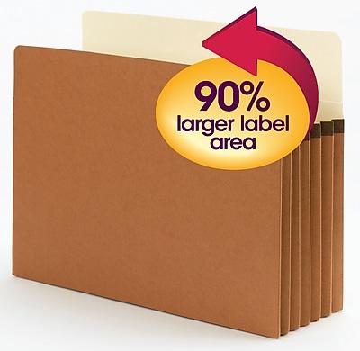 Smead SuperTab Oversized Straight Cut File Pockets, 5-1/4