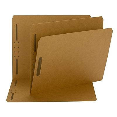 Smead® Fastener File Folder, 2 Fasteners, Reinforced Straight-Cut Tab, Letter Size, Kraft, 50/Box (14813)