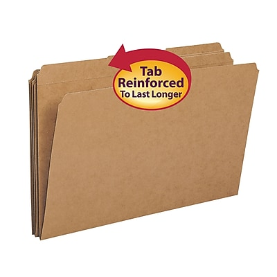 Smead File Folder, Reinforced 1/3-Cut Tab, Legal Size, Kraft, 100/Box (15734)