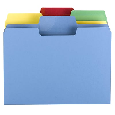 Smead Erasable SuperTab File Folder, Erasable Oversized 1/3-Cut Tab, Letter Size, Assorted Colors, 24/Pack, (10480)