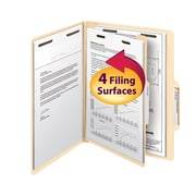 "Smead® Classification File Folder, 1 Divider, 2"" Expansion, Letter Size, Manila, 10/Box (13700)"