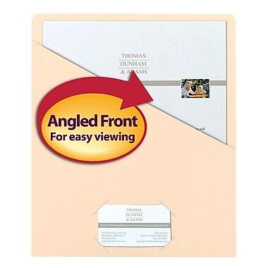 Smead® Slash Jacket, Letter Size, Manila, 25/Pack (75430)